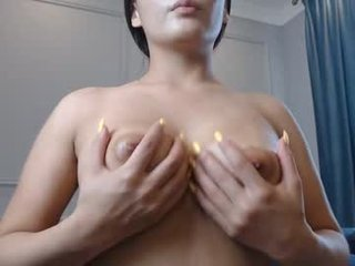 aidiyana big tits cam girl gets an orgasm from ohmibod in her tight pussy