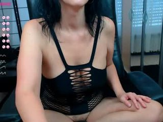 sweetlonglips_ brunette cam girl with big tits gets her pussy fucked from behind