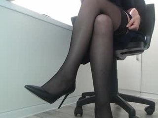 blondiana lingerie fetish in the office live show online